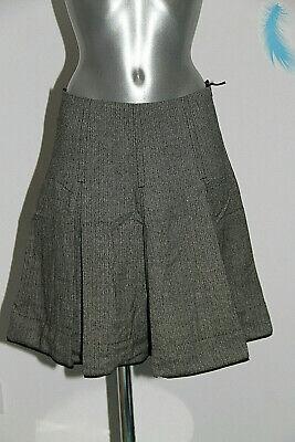 Pretty Skater Skirt Wool Gray Weekend Max Mara Size 36 Fr Mint