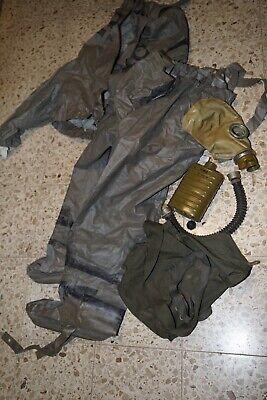 NVA ABC Vollschutzanzug Gummianzug Schutzanzug Gr. 1 mit  Schutzmaske Gasmaske