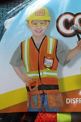 Bauarbeiter Kinderkostüm Fasching next Karneval 3-6 Jahre Kostüm Neu