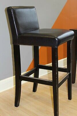 Faux Leather Dark Brown Bar Stool 5 Available