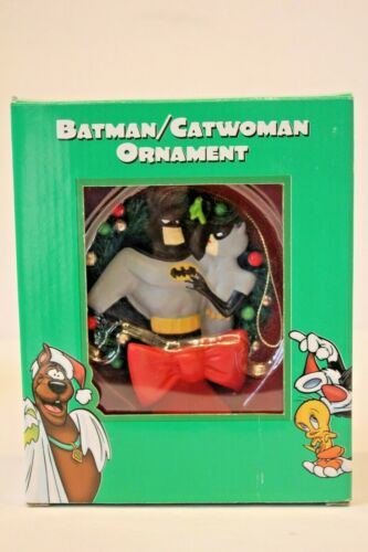 Vintage Warner Brothers Batman Catwoman Christmas Ornament 1998 New Old Stock