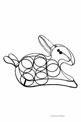 Bunny Wrought Iron - Wrought Iron Rabbit Easter Bunny 5-Bottle Tabletop Wine Rack Metal Stand