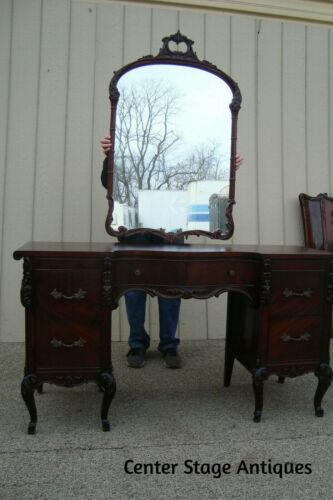 60774 Antique Mahogany Vanity with Mirror