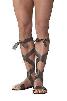 Adult Brown Roman Sandals Costume Halloween (Roman Sandals Costume)