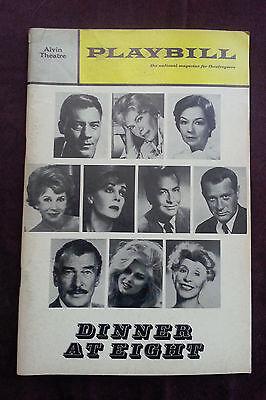 DINNER AT EIGHT Playbill, November 1966, Alvin Theatre