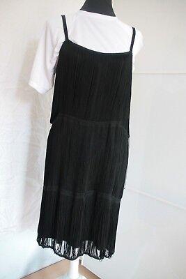 Abendkleid, Abikleid,Cocktailkleid schwarz mit fransen, gebraucht gebraucht kaufen  Altenglan