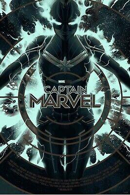 MONDO CAPTAIN MARVEL GID GLOW IN THE DARK Variant Matt Taylor Marvel MCU COMICS