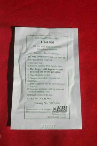 EBI Soft Touch Electrodes LT-4500 20 pack No Expiration Date Free Shipping