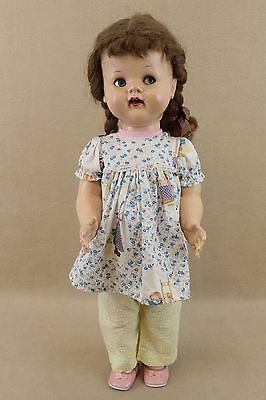 "22"" vintage hard plastic Flirty Eyed Ideal Saucy Walker Doll"
