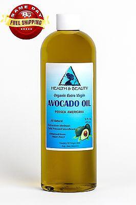 AVOCADO OIL EXTRA VIRGIN ORGANIC UNREFINED COLD PRESSED RAW NATURAL PURE 16 OZ - Extra Virgin Avocado