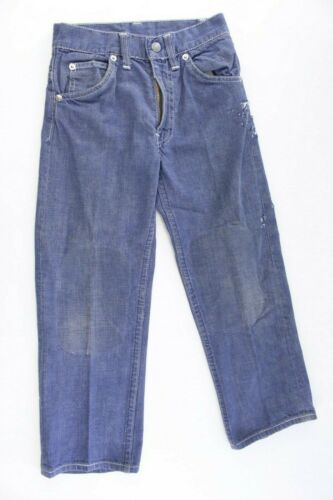 Vintage Levi's Kids Youth Girls Denim Big E Jeans White Stitching Damaged