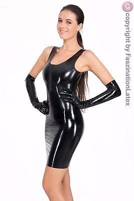 Latex KLEID - Minikleid in SCHWARZ - einfach TOLL - Größe zur - Einfache Kostüm Für Damen