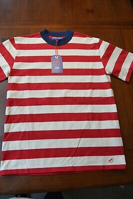 NEW Best Made Co Armor Lux Striped T-Shirt white red Blue sz LARGE