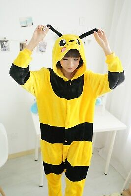 New Bee Unisex Adult Costume Pajamas Animal Cosplay JumpSuit Sleepwear hot