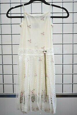 Designer Girls Dresses Sale (Designer Dimples Ivory Lace Floral girls Fancy dress Size 6 On)