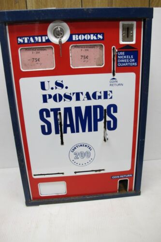 Vintage U.S. Postage Coin Operated Stamp Dispenser or Vending Machine~w/Keys