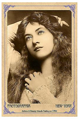 MAUDE FEALY Silent Film Actress Vintage Photo A+ Reprint Cabinet Card CDV
