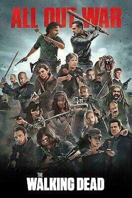 The Walking Dead Poster Season 8 All out War (Rick vs Negan) TWD - 11x17 13x19