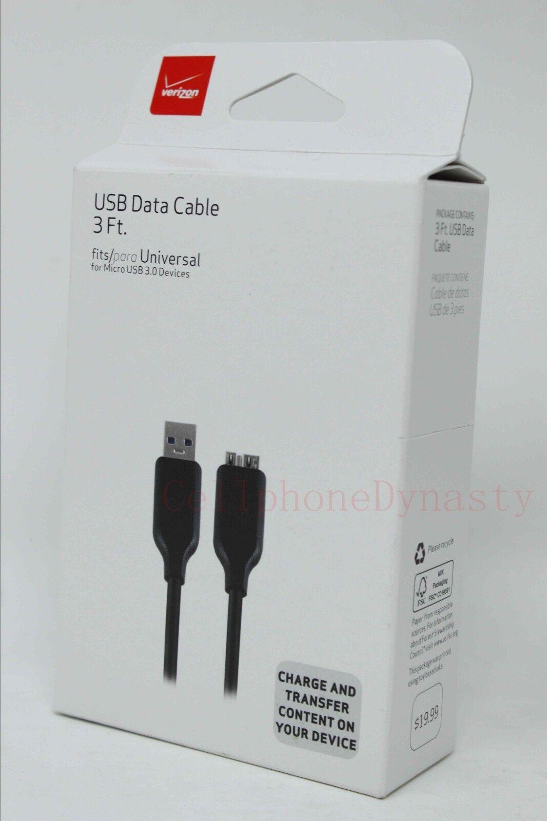 Verizon OEM Micro USB 3.0 Charging Data Cable for Samsung Ga