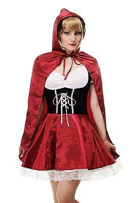 Kostüm Damenkostüm Sexy Rotkäppchen Red Riding Hood Märchen Wolf Cosplay L064