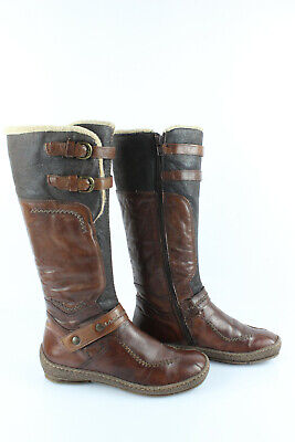 Khrio Boots Stuffed Brown Leather T 36 /UK 3,5