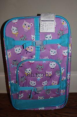 Pottery Barn Kids Mackenzie Princess Kitty Cat Large Duffle Bag  Aqua Pink New