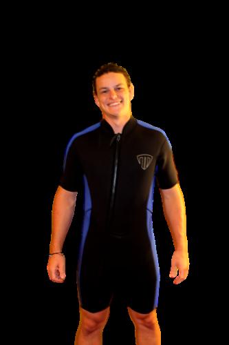 5X Shorty Wetsuit - Front Zip Off Style - Men's or Taller