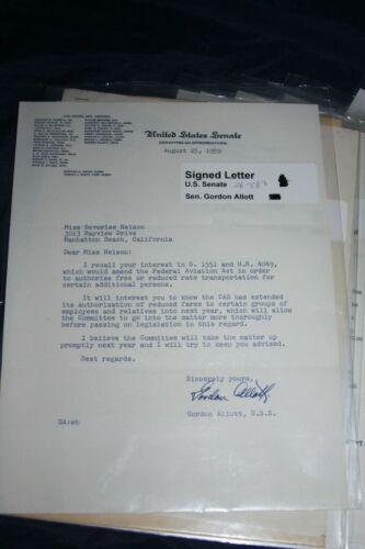 14 signed u.s. senators letters 1959& 60- aviation bill reply
