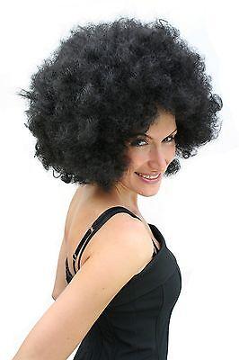 Afro-Perücke schwarz 70er Jahre Party Afroperücke Perrücke Herren Damen Unisex