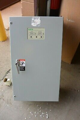 Asco Series 300 Automatic Transfer Switch A30033091c 30 Amp 480y277v 3 Phase