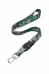 Realtree APC Green Camo Neck Lanyard With Detachable Key Ring
