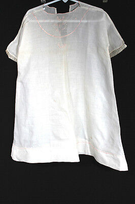 anisch Weiß Bestickt Leinen Kleinkinder Kleider Größe 2T (Antike Kleider Für Mädchen)