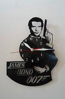 James Bond Pierce Brosman Design Vinyl Record Wall Clock, Black Gloss Sticker - handmade - ebay.co.uk