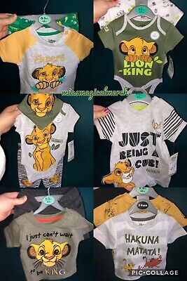 Brand New Disney Primark Lion King Baby Clothing Bodysuits Romper Outfit - Disney Baby Cloths