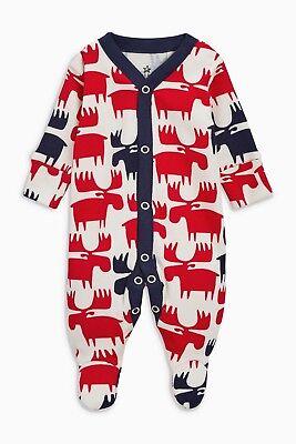 Next Strampler Weihnachten Schlafanzug Overall Pyjama Nikolaus Elch - Weihnachten Anzug