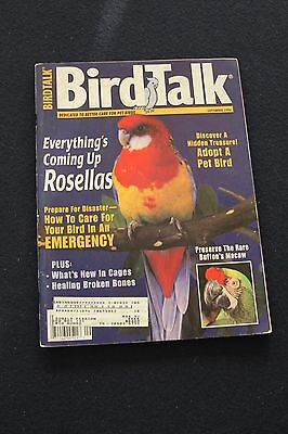Bird Talk Magazine - September 1996 - Rosella- Bird Adoption - Bird Emergencys