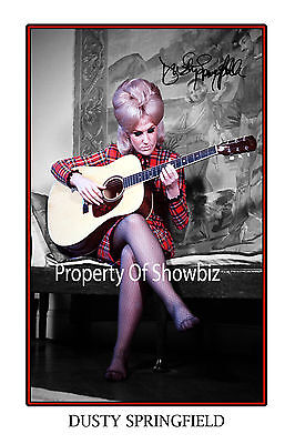 DUSTY SPRINGFIELD AUTOGRAPH SIGNED PRINT POSTER - GREAT PIECE OF MEMORABILIA