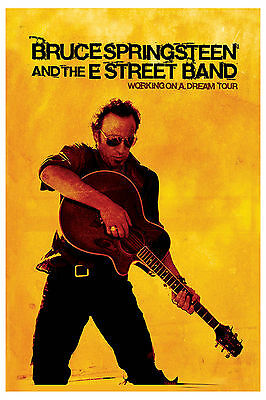 The BOSS: Bruce Springsteen * Working on a Dream * Tour Poster 2009