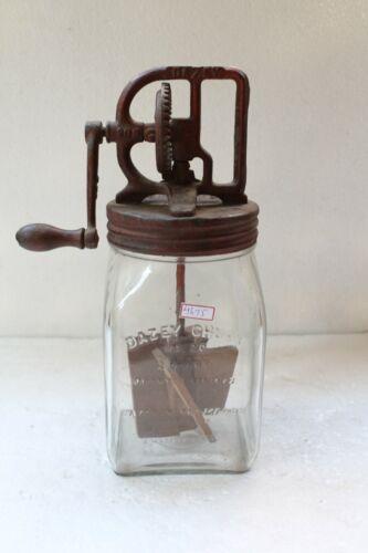 Vintage No 20 Glass Dazey Butter Churner Patent Primitive America Kitchen NH4675