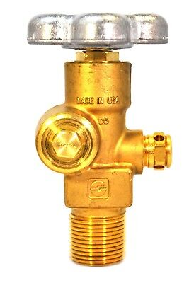 Sherwood Residual Pressure Cylinder Valve For Co2 Service In.-out. 34-cga320