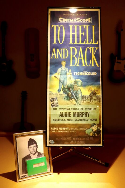 WW2 To Hell and Back 1957 Rare Movies Poster and Audie Murphy Signature & photo