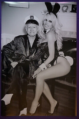 Hugh Hefner Playboy Playmate Bunny Pamela Anderson Picture Poster 24X36 New