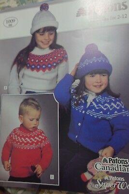 Шаблоны Paton's Knitting Pattern 1009BB Fair