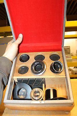 Lot Of 8 Leica Leitz Sp Reflex Lenses Microscope Parts