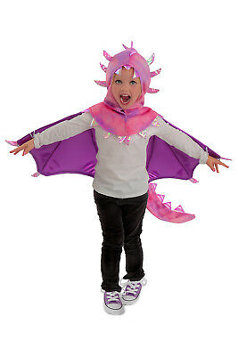 Dragon Costume Purple & Pink Sadie Hooded Wings Cape 2T 3T 4T 3 4 5 6 7 8 10 12 (Pink Dragon Costume)