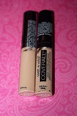 Wet n Wild COVERALL Concealer LIQUID Wand #811A FAIR LOT OF 2 SEALED + GIFT