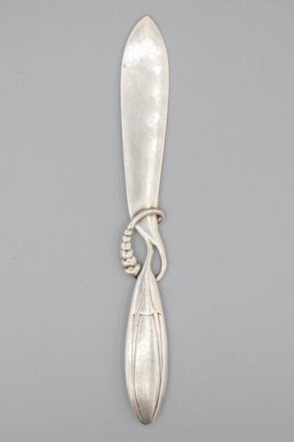 """Georg Jensen Sterling Silver Ornamental Letter Opener #117 Denmark – 6 5/8"""" long"""