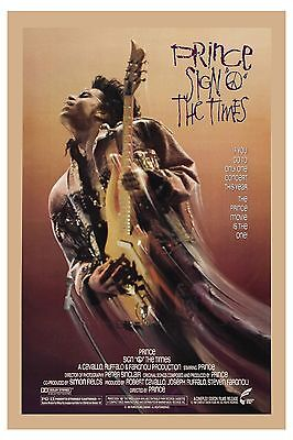 ROCK: Prince * Sign of the Times * Movie Poster USA Release 1987