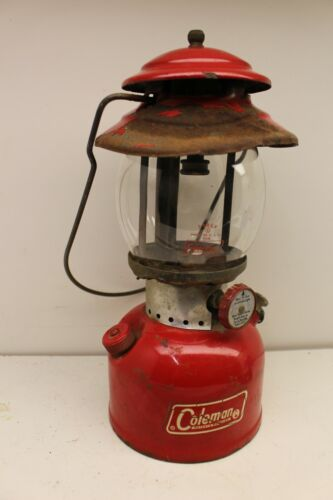 Vintage Coleman 200A Single MANTLE Red Camping Hunting Lantern