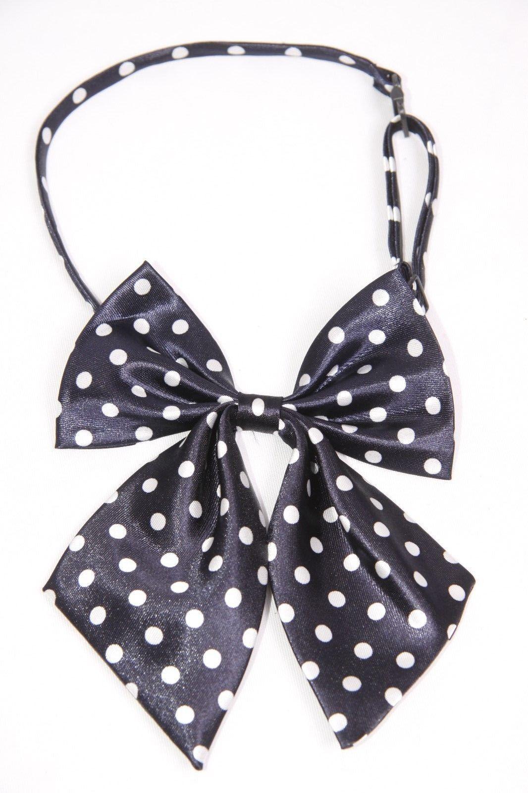 s152 Dark Blue Denim /& White Polka Dot Print Girly Headband W Bow Detail